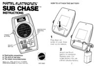 Mattel Video Gaming Accessories SUB CHASE User Manual