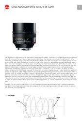 Leica NOCTILUX-M 50 mm f/0.95 11602 User Manual