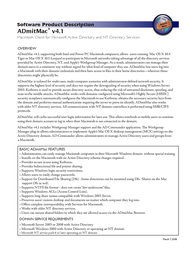 Thursby Software ADmitMac 4.0 Mac, 25 Users ADG194-P7 Leaflet