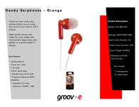 Groov-e GV-EB3-OE GVEB3OE Leaflet