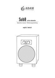 Adam Audio sub8 User Manual