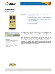 JDSU TP500 Leaflet