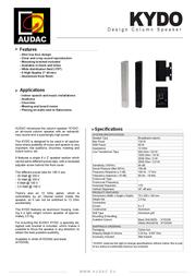 AUDAC KYDO KYDO/B Leaflet
