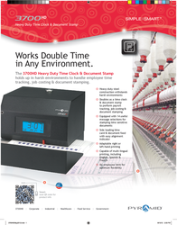 Pyramid Time Systems 3700 Leaflet