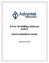 Advantek Networks ANS-08P User Manual