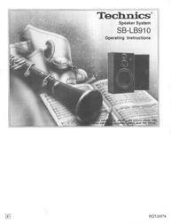 Technics SB-LB910 User Manual