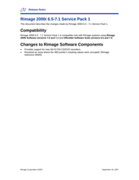 Rimage 480i Release Note
