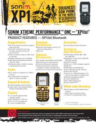 Sonim XP1 (bt), Yellow XP1-YELLOW-JCB Leaflet