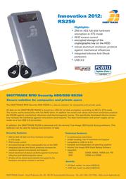 Digittrade RS256 1.5 TB DG-RS256-1500 Leaflet
