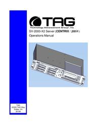 TAG CENTRIX SV-2000-X2 User Manual