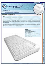 Ceratech Illuminated Slim Keyboard KYB-LIGHTNING-01 Leaflet