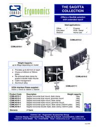 Comrac Sagitta triple mount, horizontal, desk clamp COMLA5161 Leaflet