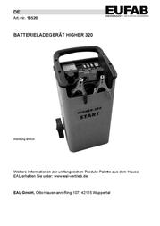 Eufab Industrial charger Fahrbares Batterieladegerät 12/24V 16520 User Manual