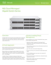 Meraki MS22P MS22P-HW Data Sheet