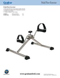 Lumiscope Pedal Floor Exerciser GF1965-1 Leaflet