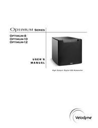 Velodyne optimum 10 User Manual