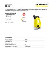 Kärcher Steam cleaner SC 952 User Manual