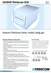 Freecom CD/DVD 100 Dual SCSI, 36 GB 15170 Leaflet