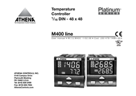 Athena Power Temperature Controller 1/16 DIN - 48 x 48 M400 Manual Do Utilizador