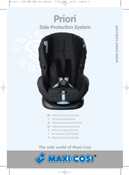 Maxi-Cosi Priori Side Protection System User Manual