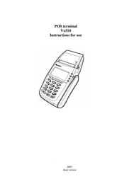 VeriFone Vx510 Instruction Manual
