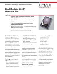 HGST DESKSTAR 180GXP 120GB ATA 07N9549 Leaflet