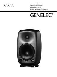 Genelec 8030A User Manual