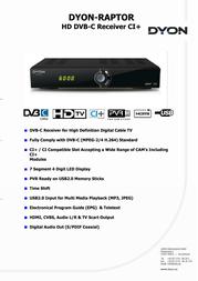 Dyon Raptor D840010 Data Sheet