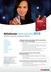 SOFTWIN BitDefender Total Security 2010, 1 User Single Edition Retail NB11051001-DE Leaflet