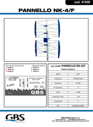 G.B.S. Elettronica NK-4/F 41009 Leaflet