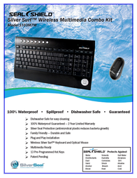 Seal Shield SILVER SURF Wireless + Mouse Combo S103M7W Leaflet