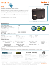 "Tech air Casual Briefcase 15.4"" TAR1501 Leaflet"