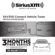 SiriusXM SXV300V1 Tuner Owner's Manual