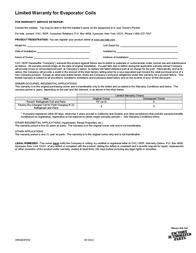 Carrier CNPVP Warranty Information