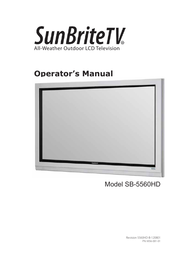 SunBriteTV SB5560HDSL User Manual