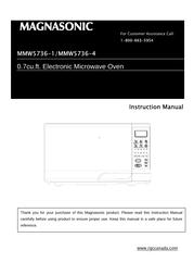 Magnasonic MMW5736-1 User Manual
