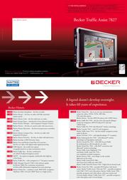 Becker Traffic Assist 7827 Europe 1901.559 Leaflet
