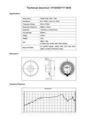 Kepo KP2848SP1F-5836 miniature speaker 8 Ω, 650 Hz ± 20 % KP2848SP1F-5836 Data Sheet