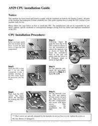 PC CHIPS A929 Leaflet