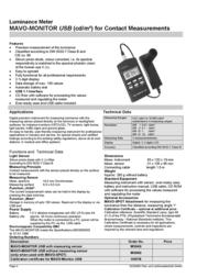 Gossen Mavo-Monitor USB M504G Leaflet