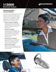 Plantronics Headset Bluetooth M3000 M3000 Leaflet