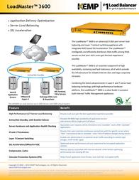 KEMP Technologies LoadMaster LM-3600 LM3-3600-P Leaflet