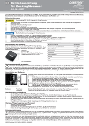 Cabstone 43317 Leaflet