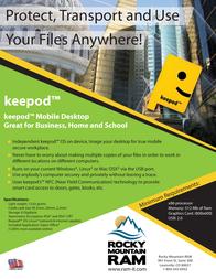 Rocky Mountain KEEPOD KEEPOD-8 Leaflet