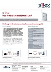 Silex SX-WSG1 E1171 Leaflet