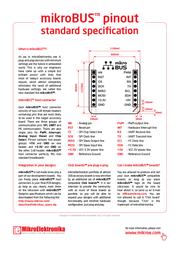 Mikroelektronika MikroE Development Kits MIKROE-1416 Data Sheet