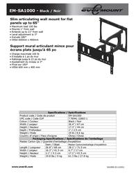Evermount EM-SA1000 Leaflet