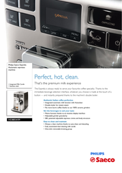 Saeco Super-automatic espresso machine HD8854/09 HD8854/09 Leaflet