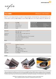 Nexus FLC-3000 R2   Socket LGA1156/1366/775, AM3/AM2 cooler with smooth airflow FLC-3000 R2 Leaflet
