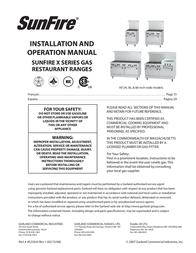 Sunfire X Series User Manual